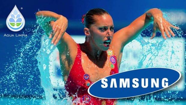 Gemma Mengual y Samsung en Agualimpia
