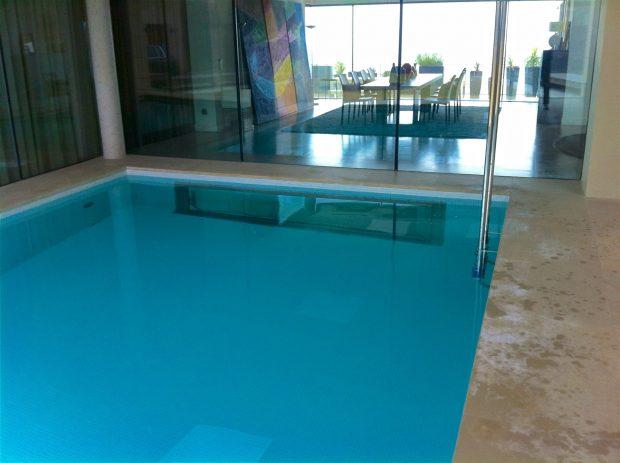 piscina climatizada clorador salino